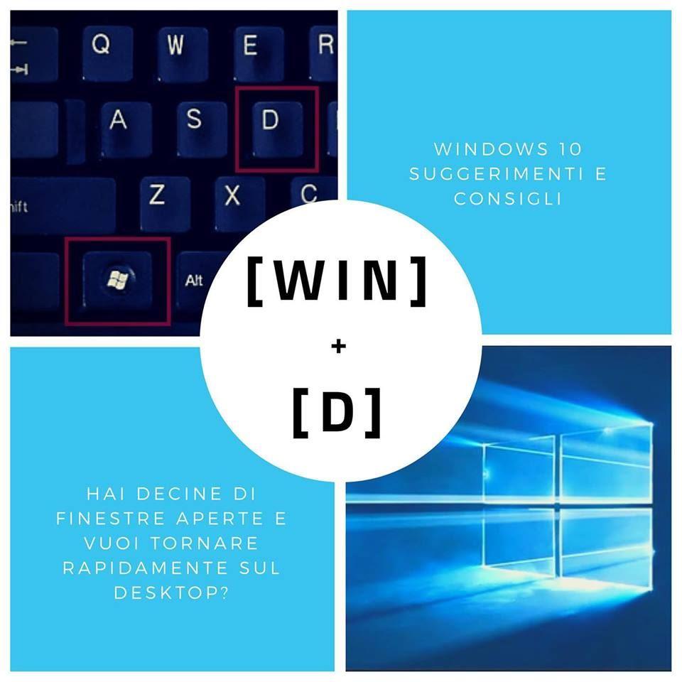 Le scorciatoie da tastiera di Windows