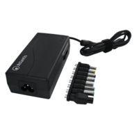 Alimentatore universale x notebook P008-SC-90 90W,8+1 connettori intercambiabili+Connettore per HP, porta USB