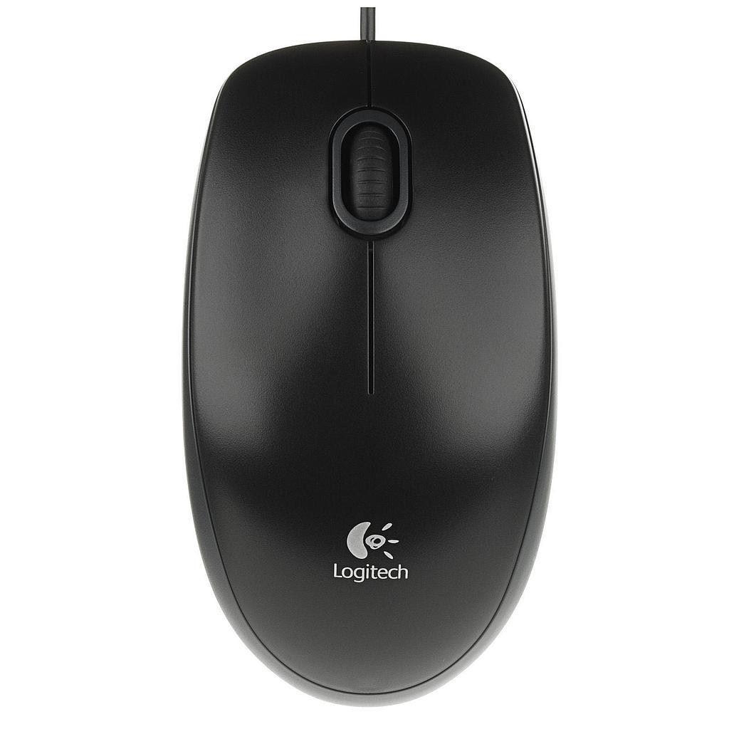 MOUSE LOGITECH B100 Mouse Black USB 3 tasti 800dpi oem