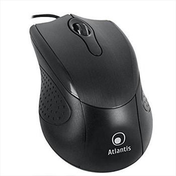 Mouse OPTIMOUSE 500 USB, ottico 3 tasti con scroll, 1.000 dpi, finitura in ABS lucido,Black