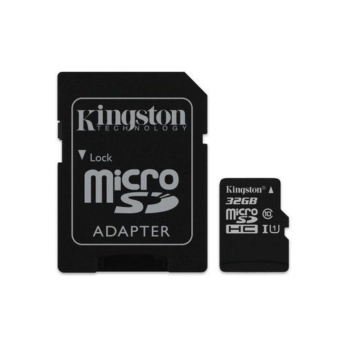 SD-MICRO KINGSTON 32GB incl. Adapter CLASS 10 UHS-I 80MBs + ADATTATORE Canvas Select